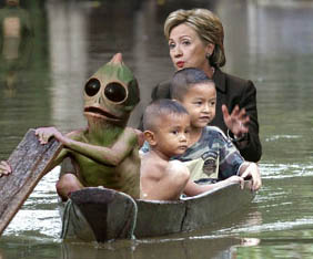 Hillary_in_a_boat_poster